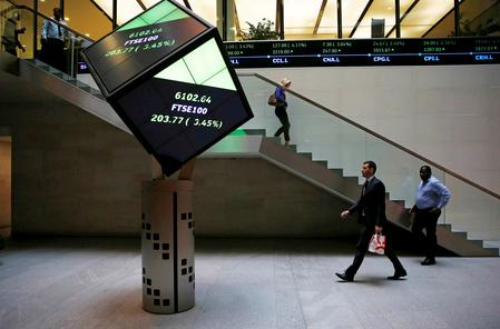 Shares flat as investors parse economic data, dollar dips for third day