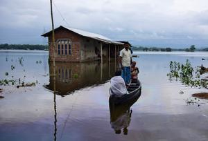 Floods displace millions in South Asia