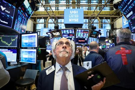 Wall St. flat as railroads slide after CSX signals trade impact