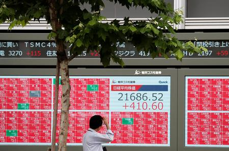 Stocks wobble on trade, earnings unease; U.S. Treasury yields fall
