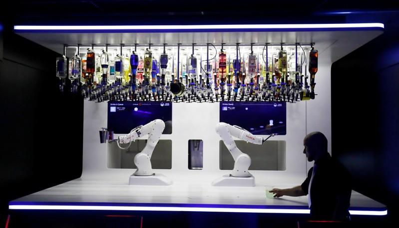 Shaken or stirred: robotic bartender serves up cocktails for Prague clubbers