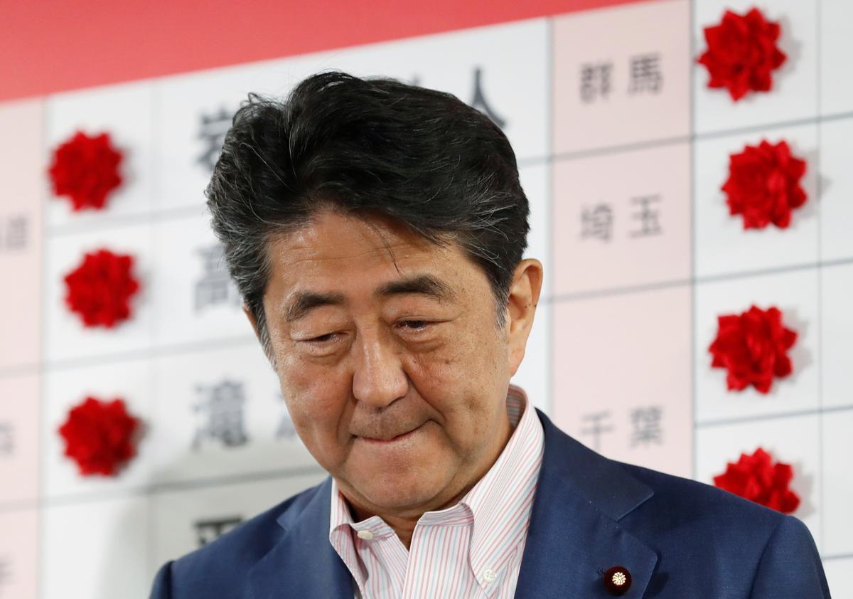 日本安倍晋三表示,上议院选举胜利表明支持宪法辩论 - 今日扒