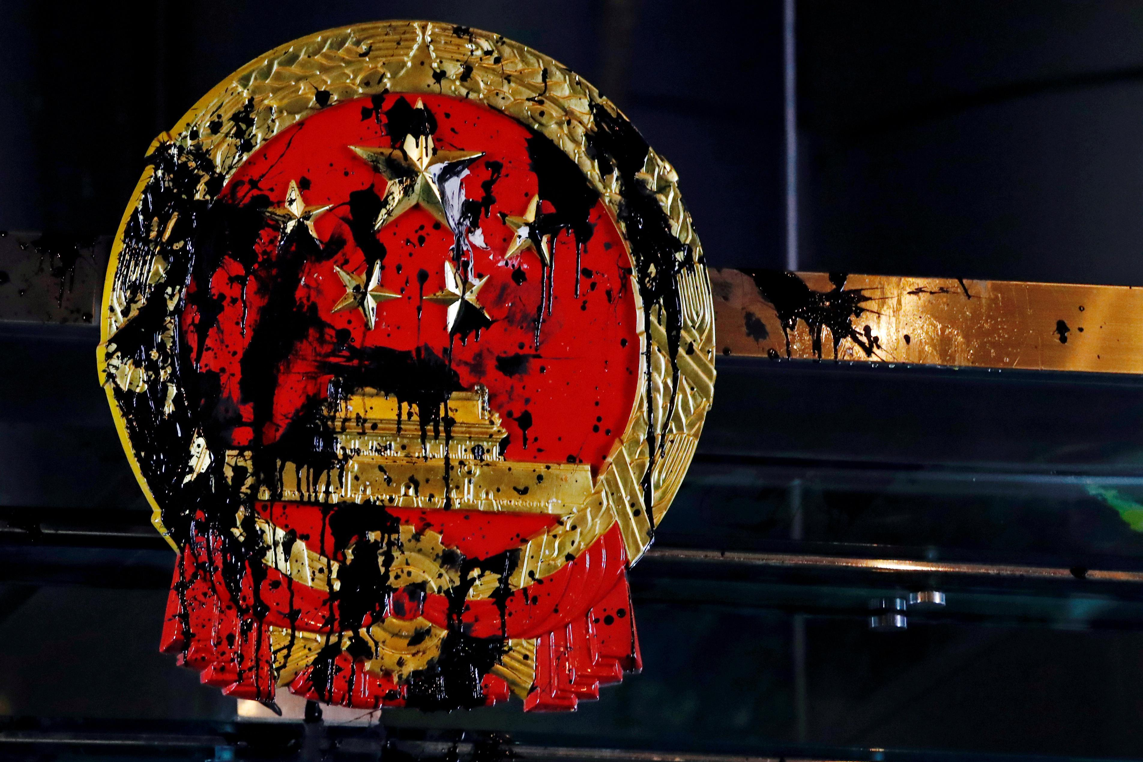 Chinese state media slams attack on Beijing representative's office in Hong Kong