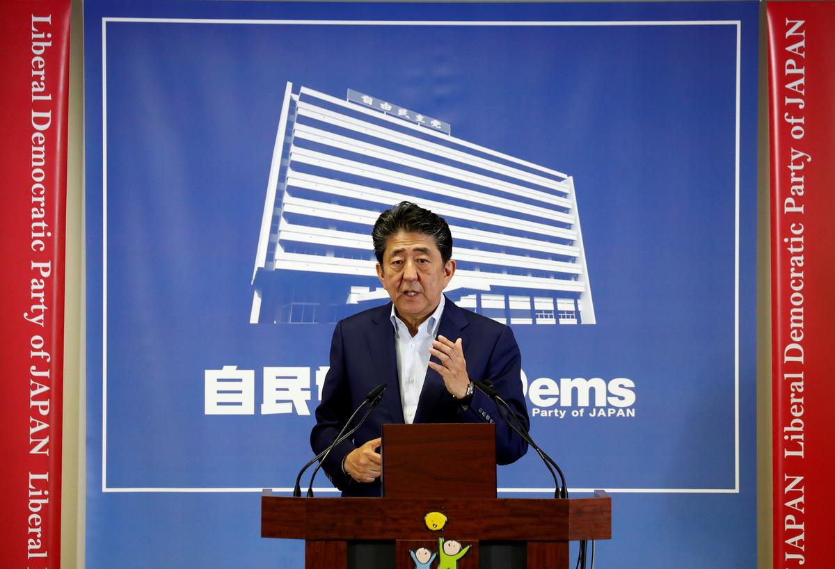 Japan's Abe vows flexible steps in case of downside economic risks