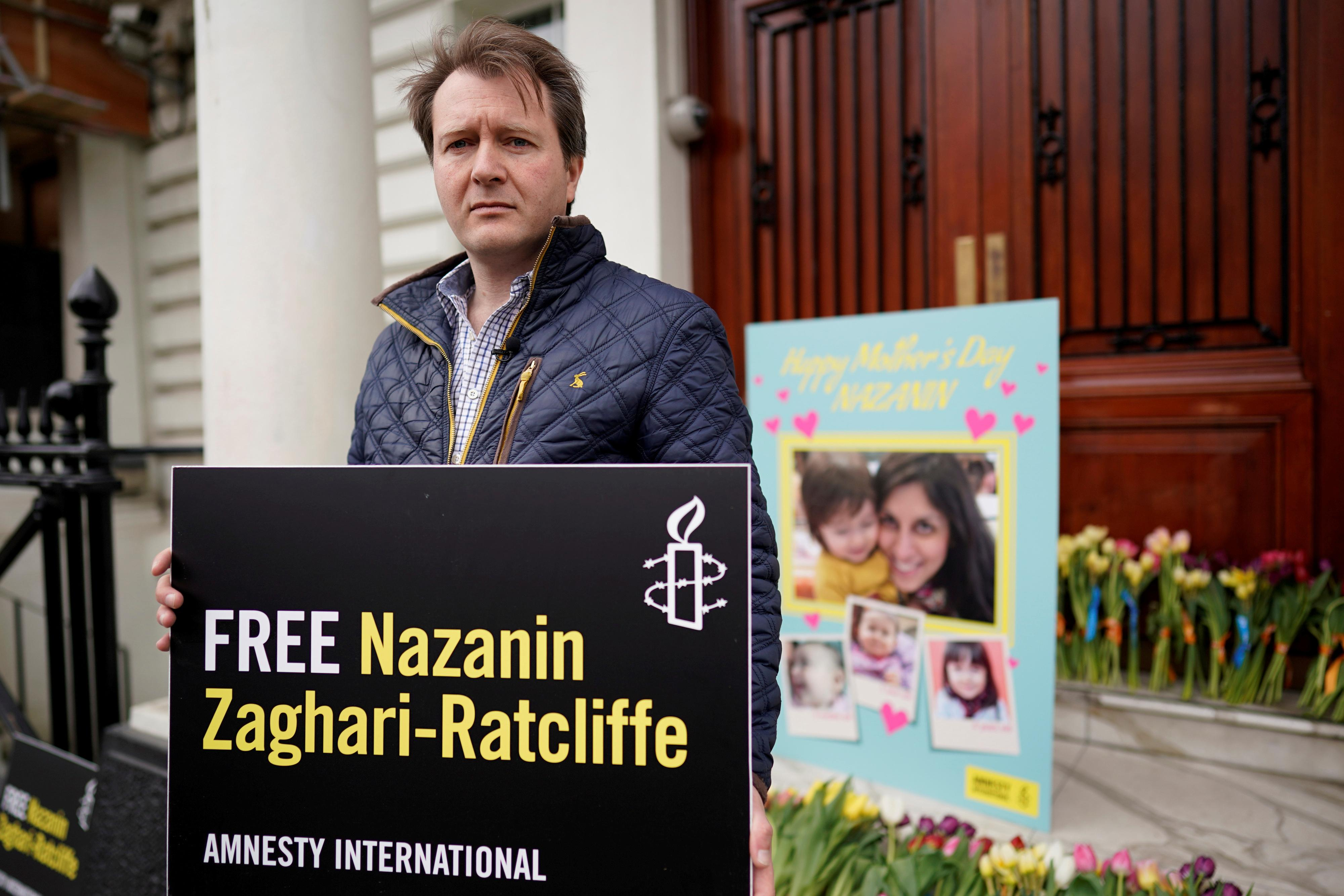 British-Iranian aid worker moved back to jail from hospital ward: husband