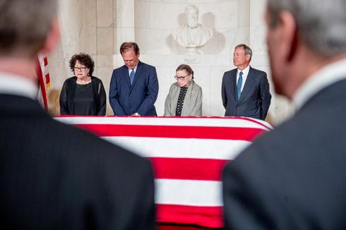 Former Supreme Court Justice Stevens lies in repose