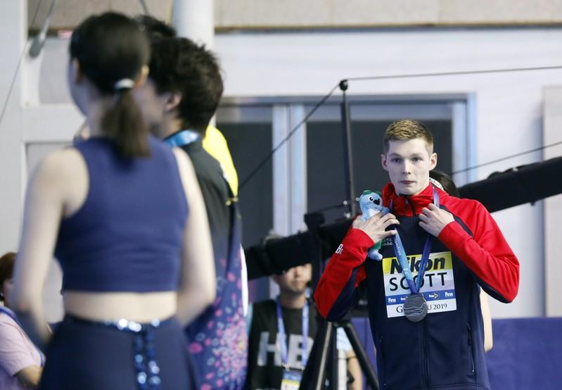Swimming: Scott returns to pool after podium controversy