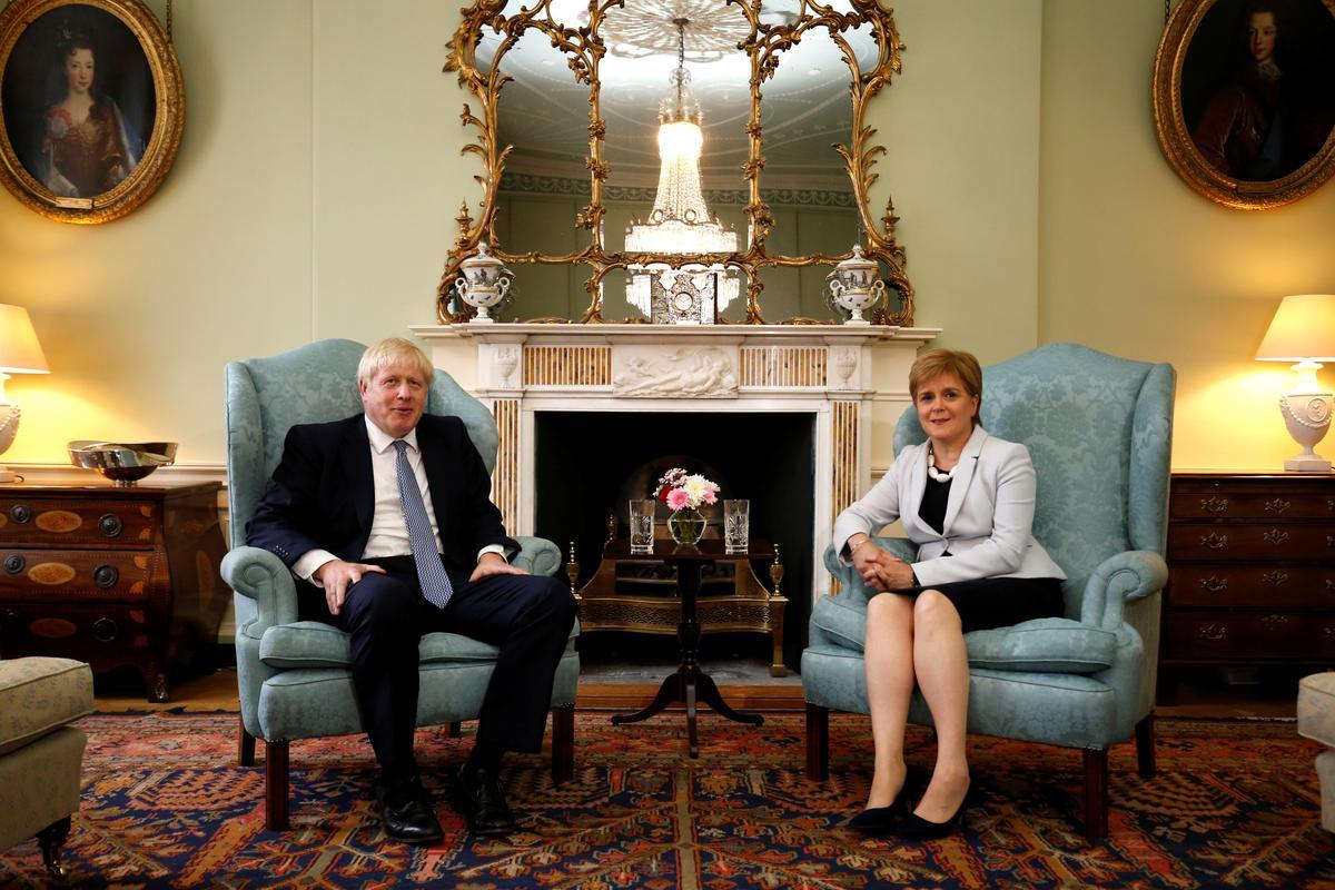 Scotland's Sturgeon thinks UK PM Johnson is pursuing a no-deal Brexit