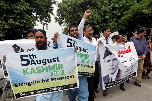 Image result for Protests across Pakistan over India's 'illegal' move in contested Kashmir