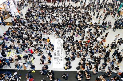 Activists gather at Hong Kong airport for three-day protest