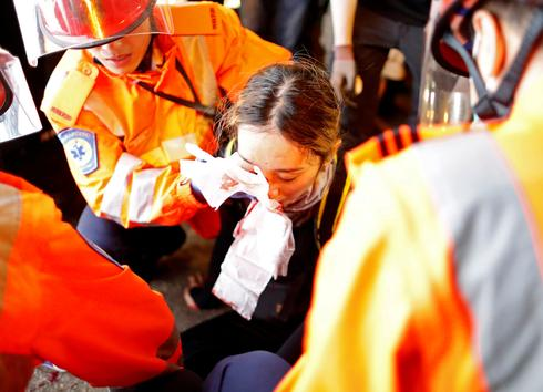 Medic shot in eye during Hong Kong protests