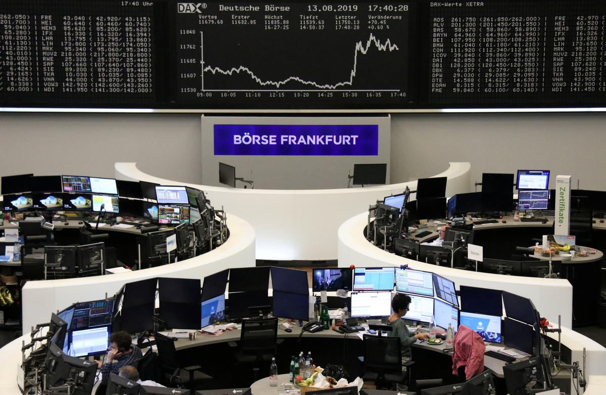European shares slide to six-month low as recession fears rise