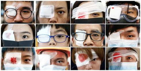 'Eye for an eye': Hong Kongers protest with patches