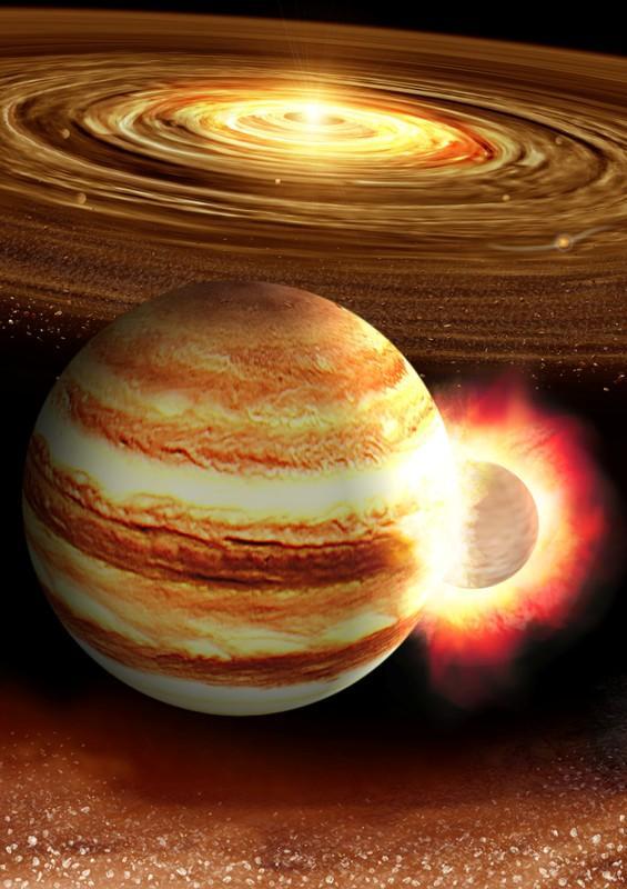 Die planeet tien keer die Aarde se massa het Jupiter dalk lankal geklap