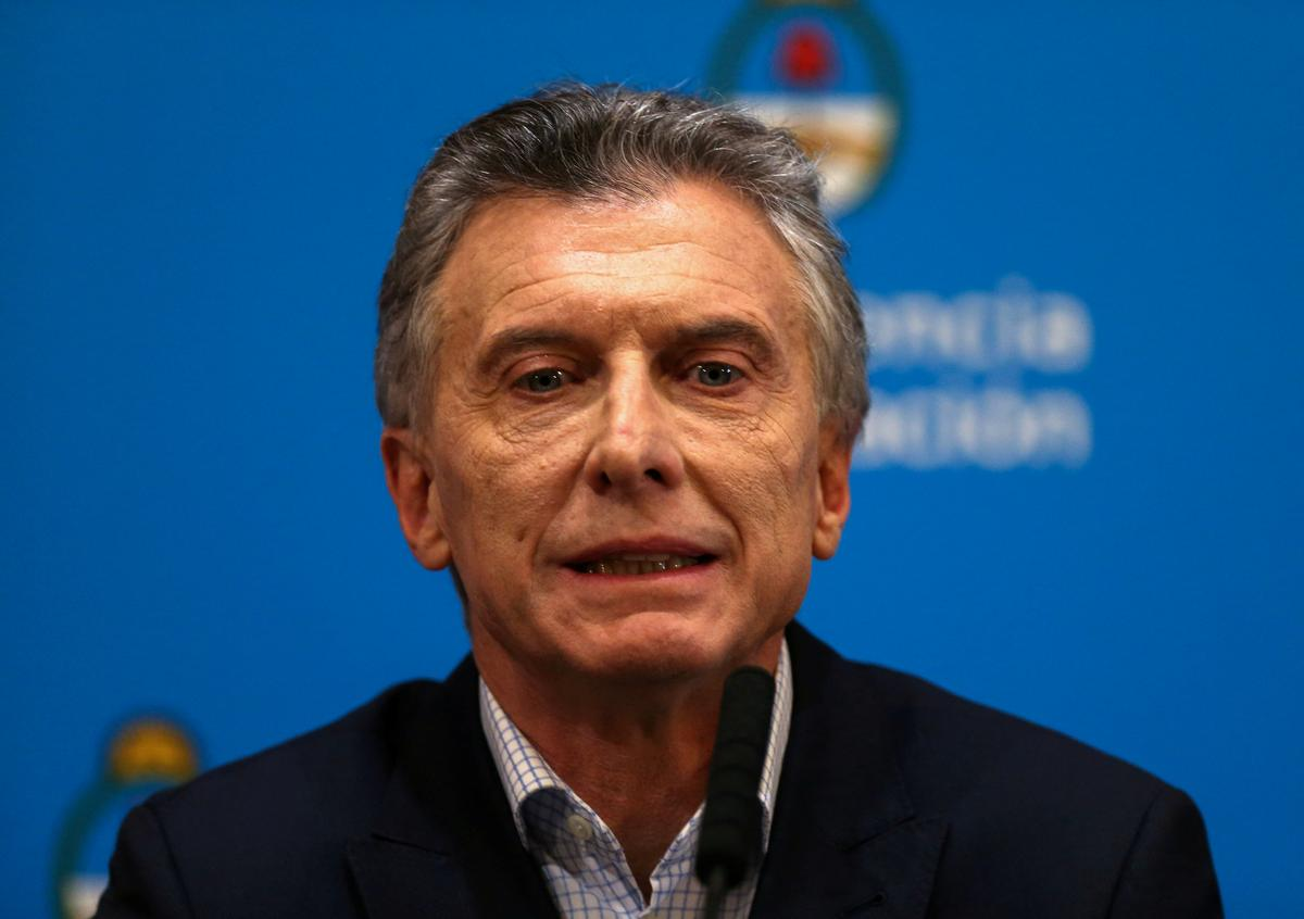 Argentina's Macri says sales tax to be eliminated on some food products until end of year