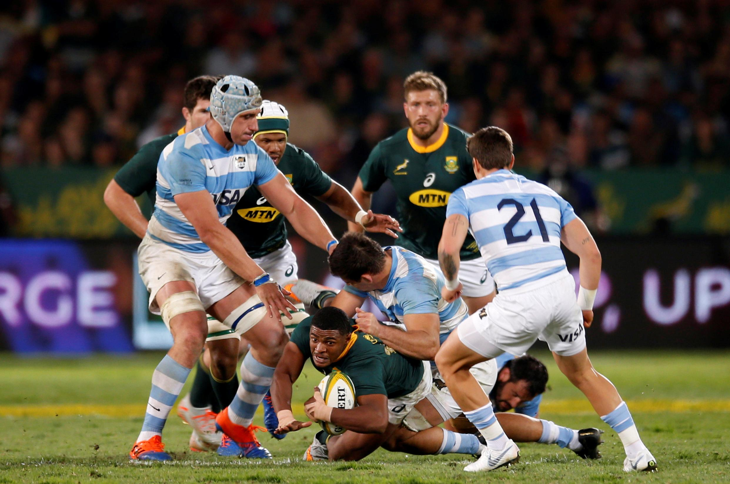 Dazzling Nkosi seals victory for lacklustre Boks over Argentina