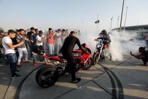 Baghdad bikers dance as parties return to battle-weary city