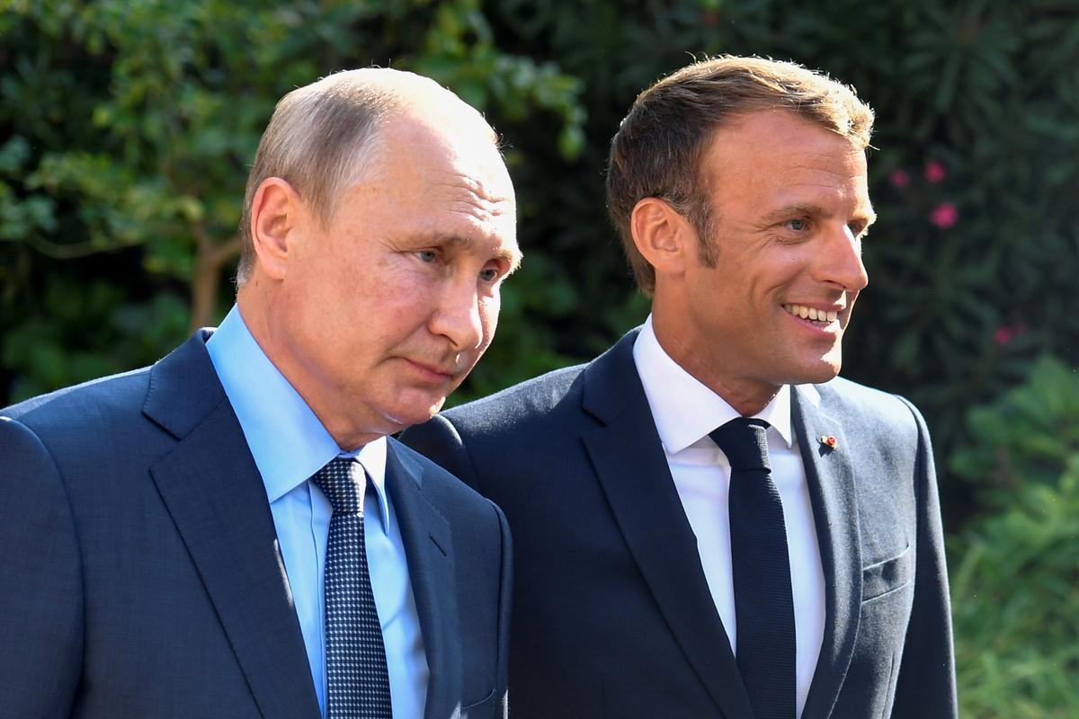 Poetin sê vir Macron: Rusland wil nie betogings soos jy het nie