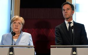 Dutch Prime Minister Rutte meets with German Chancellor Merkel in The Hague