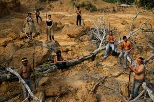 Brazil's indigenous people swear to fight for Amazon 'to last drop of blood'