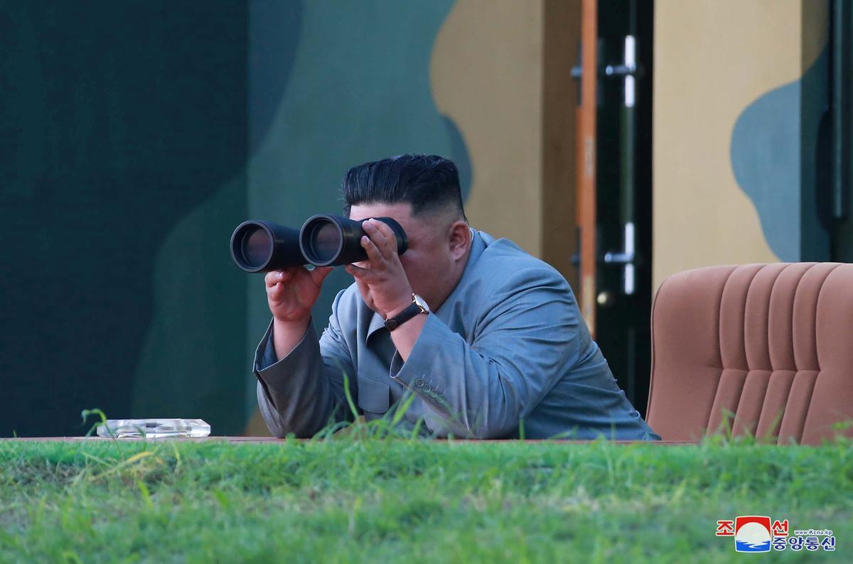 Noord-Koreaanse leier Kim het toesig gehou oor die toets van 'super-groot meervoudige vuurpyl-lanseerder': KCNA
