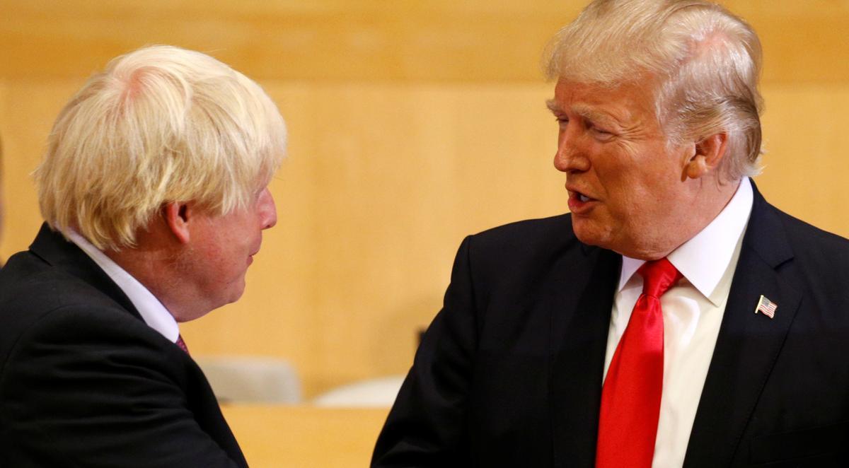 Die Britse Johnson sê aan Trump: verlaag u handelsbelemmerings om die Britse transaksie te verseël