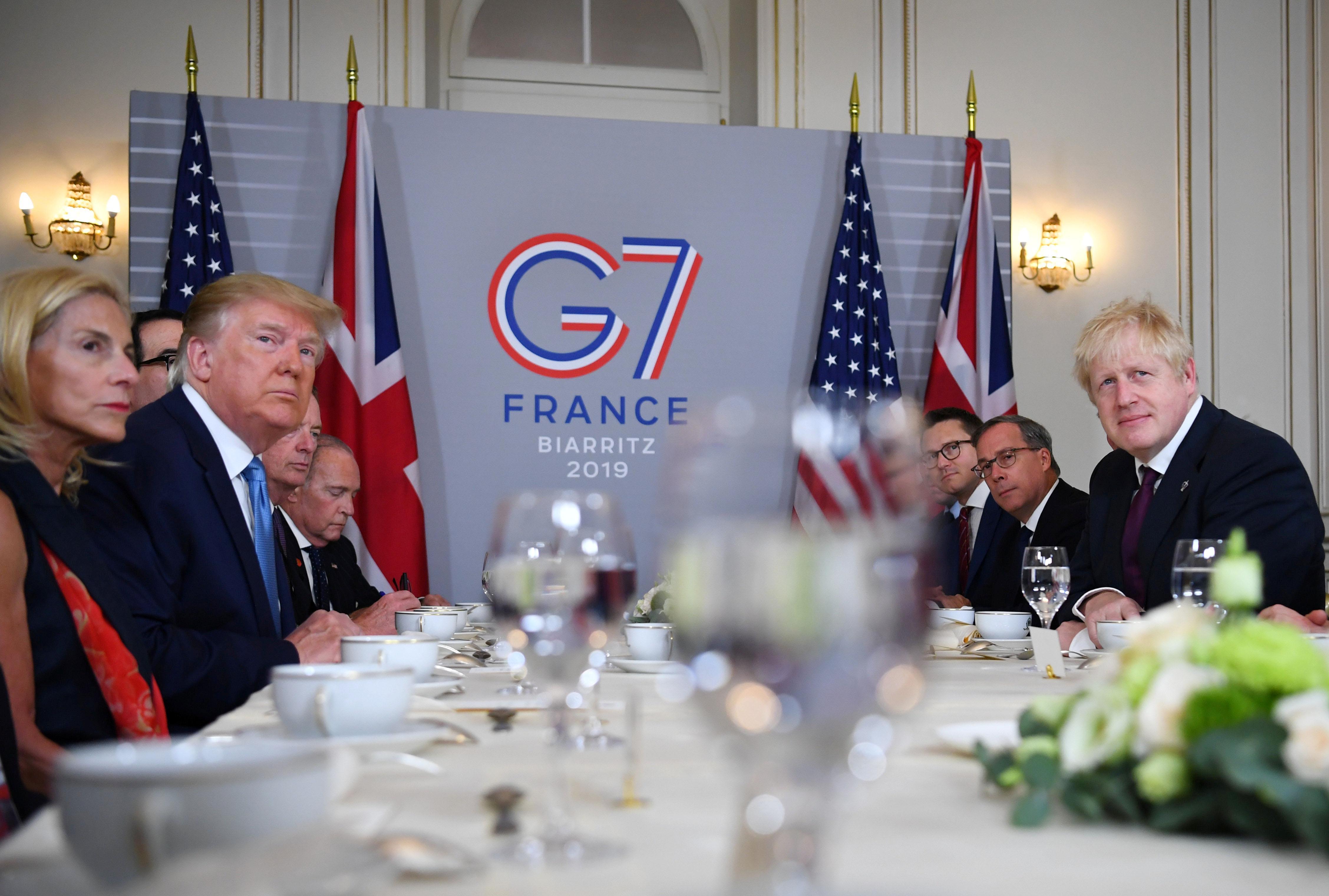 Trump dresse le portrait de l'unité au sommet du G7