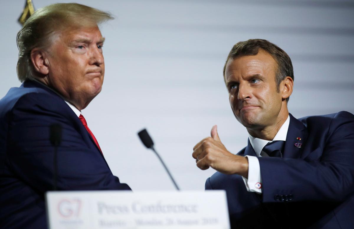 Macron lewer deurbraak oor Iran op die gespanne G7-beraad, maar weinig anders