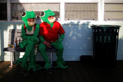 Partygoers dress in wacky costumes for Florida's annual Gecko Ball