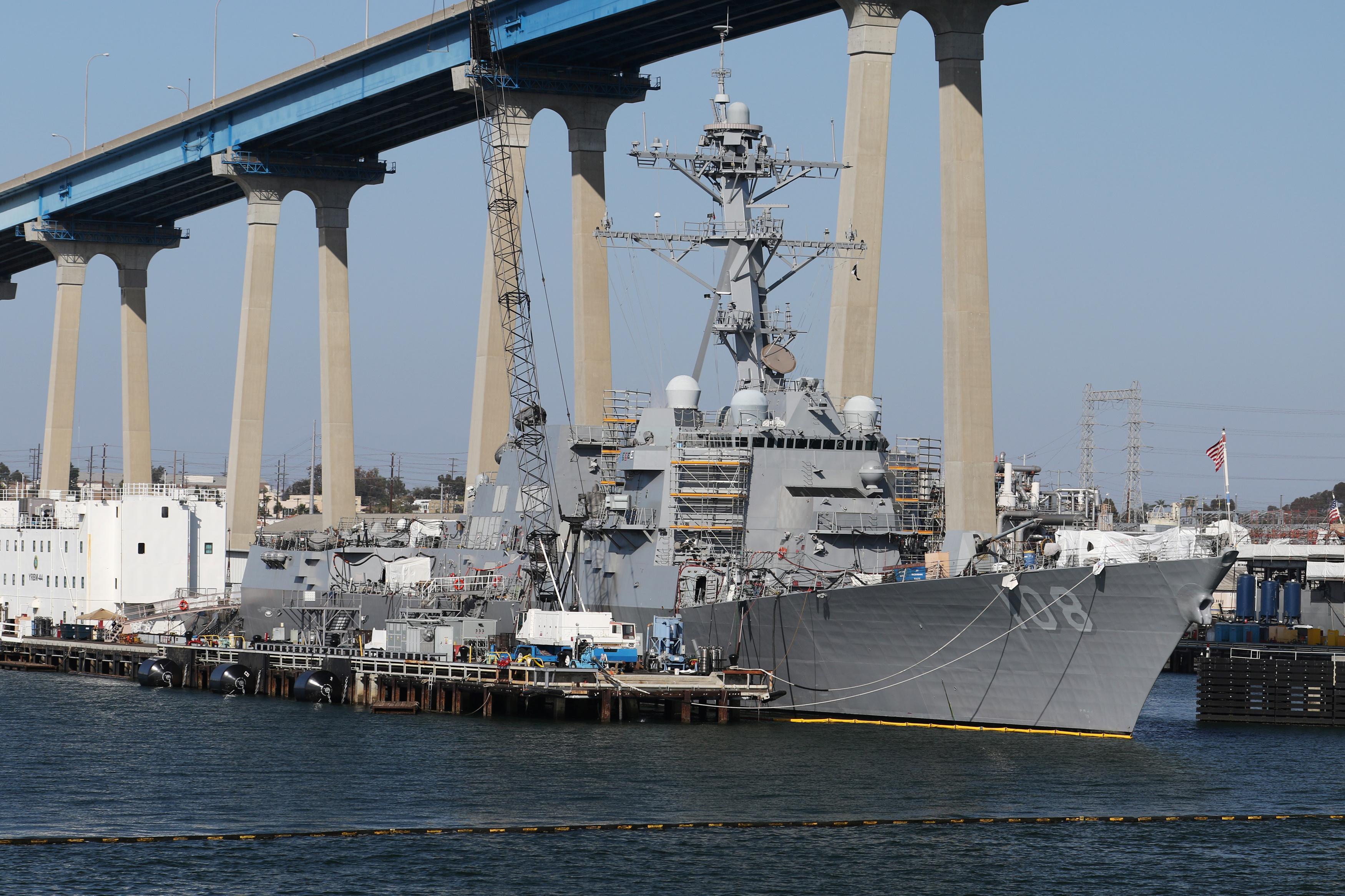 U.S. warship sails near South China Sea islands claimed by China