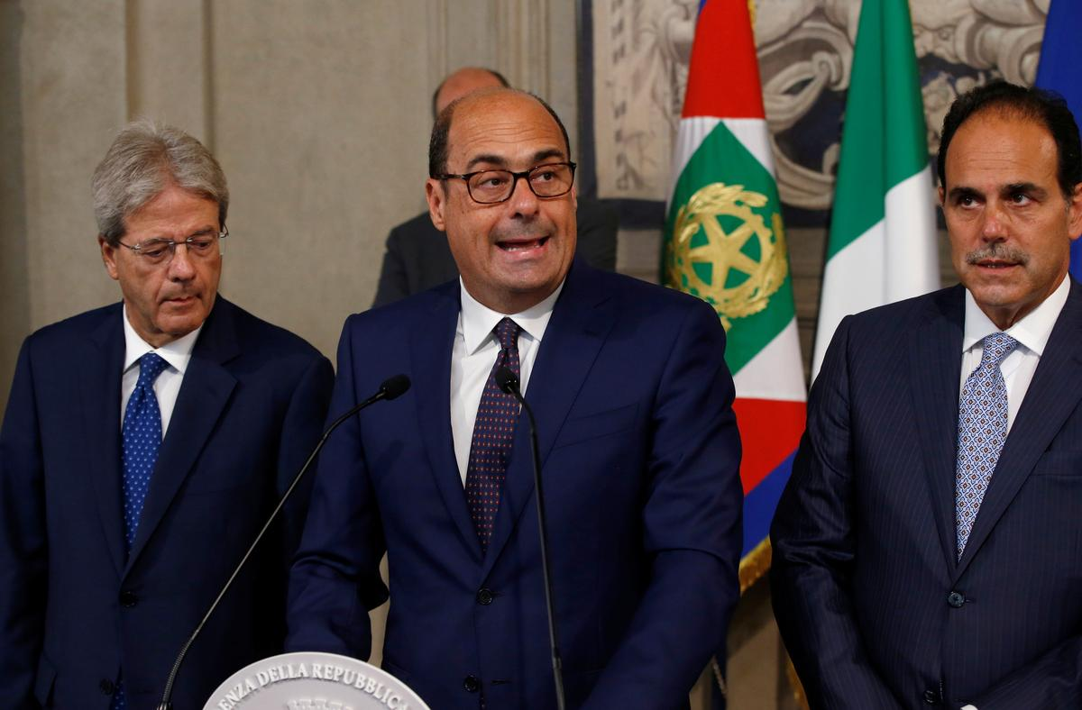 Italië se PD-party sê president is gereed om met die 5-sterre regering te vorm