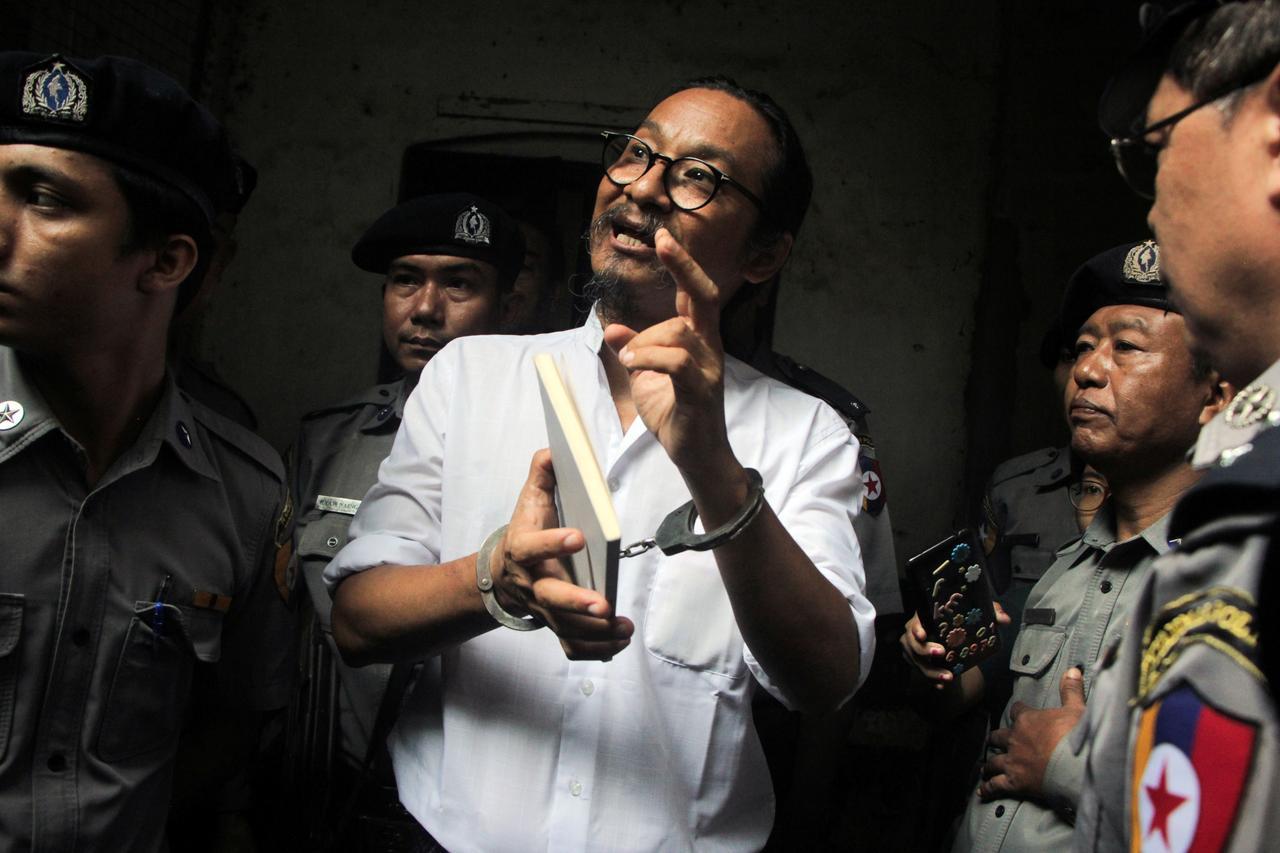 Image result for Myanmar jails filmmaker for Facebook posts critical of military