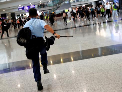 Hong Kong protesters target airport again
