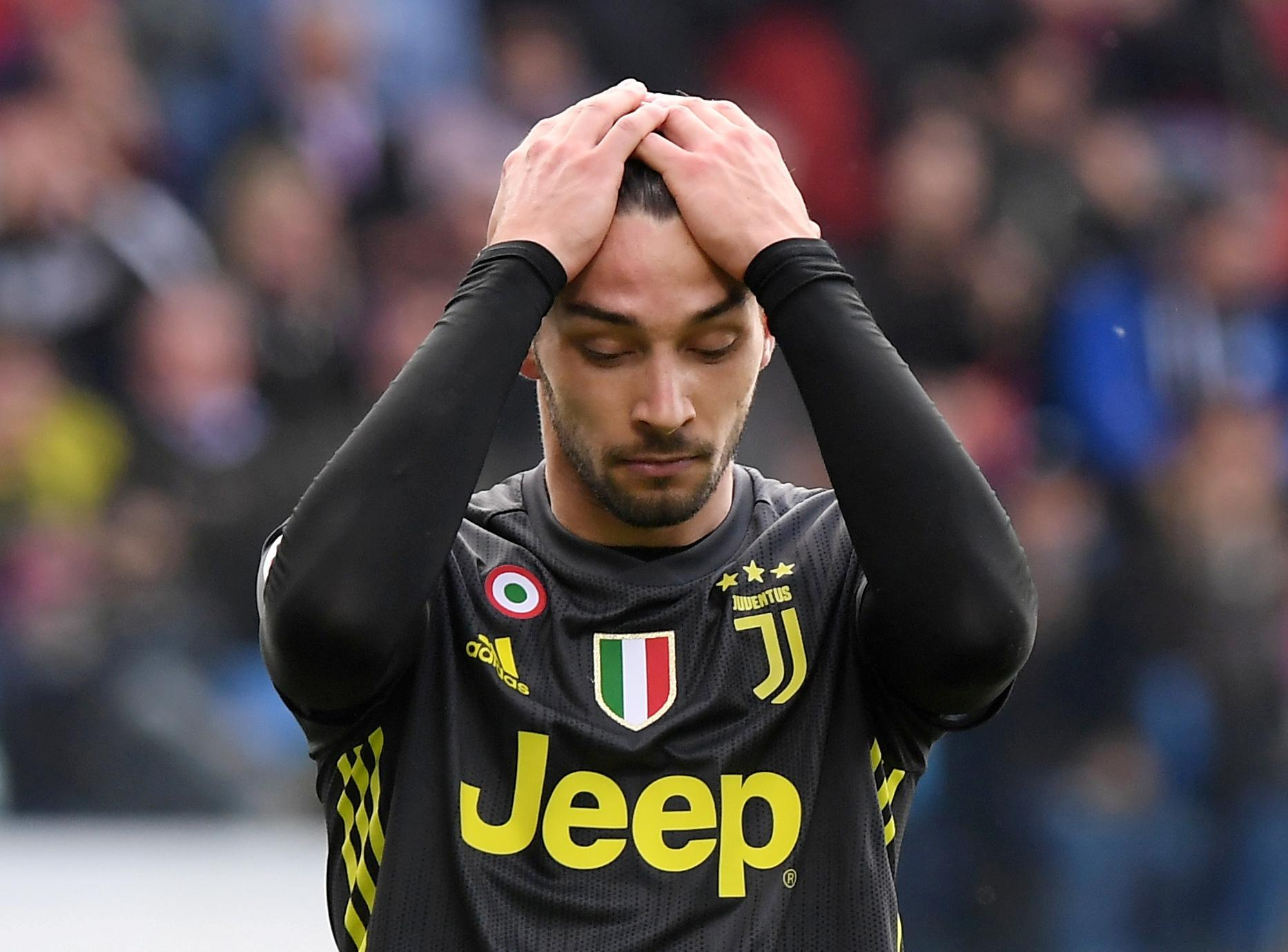 Juve's De Sciglio out with thigh injury for at least 10 days