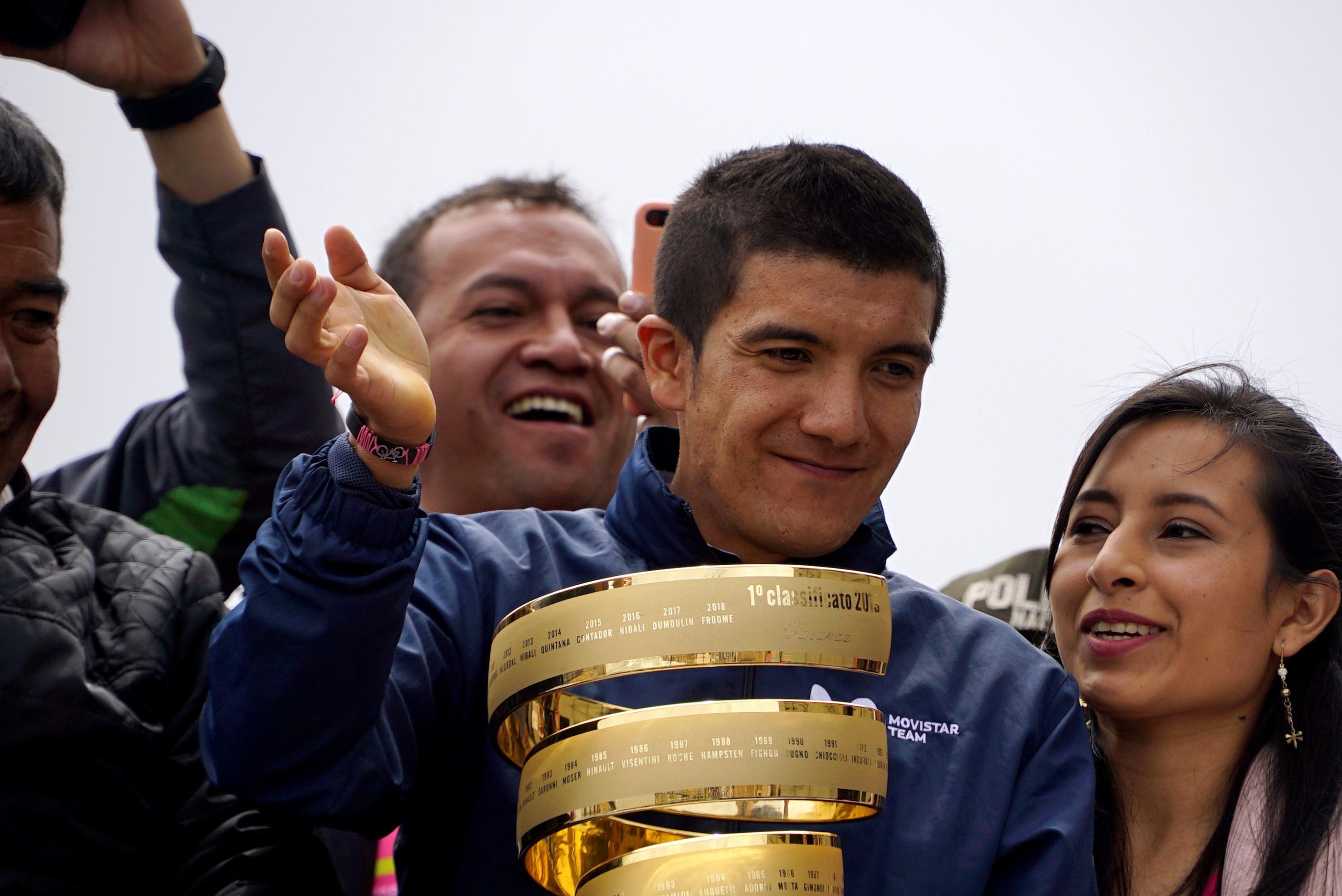 Cycling: Giro champion Carapaz joins Team Ineos