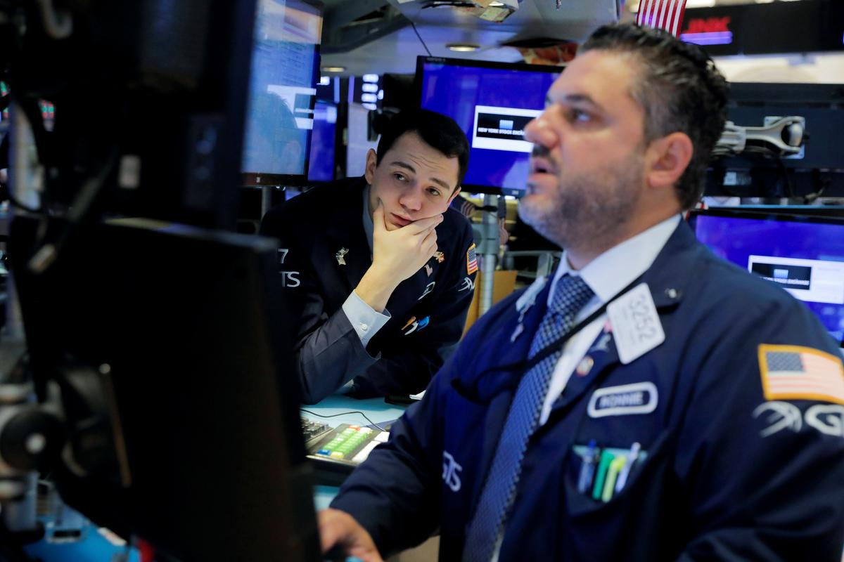 U.S. Treasury yields drop, stocks slide as global slowdown fears loom