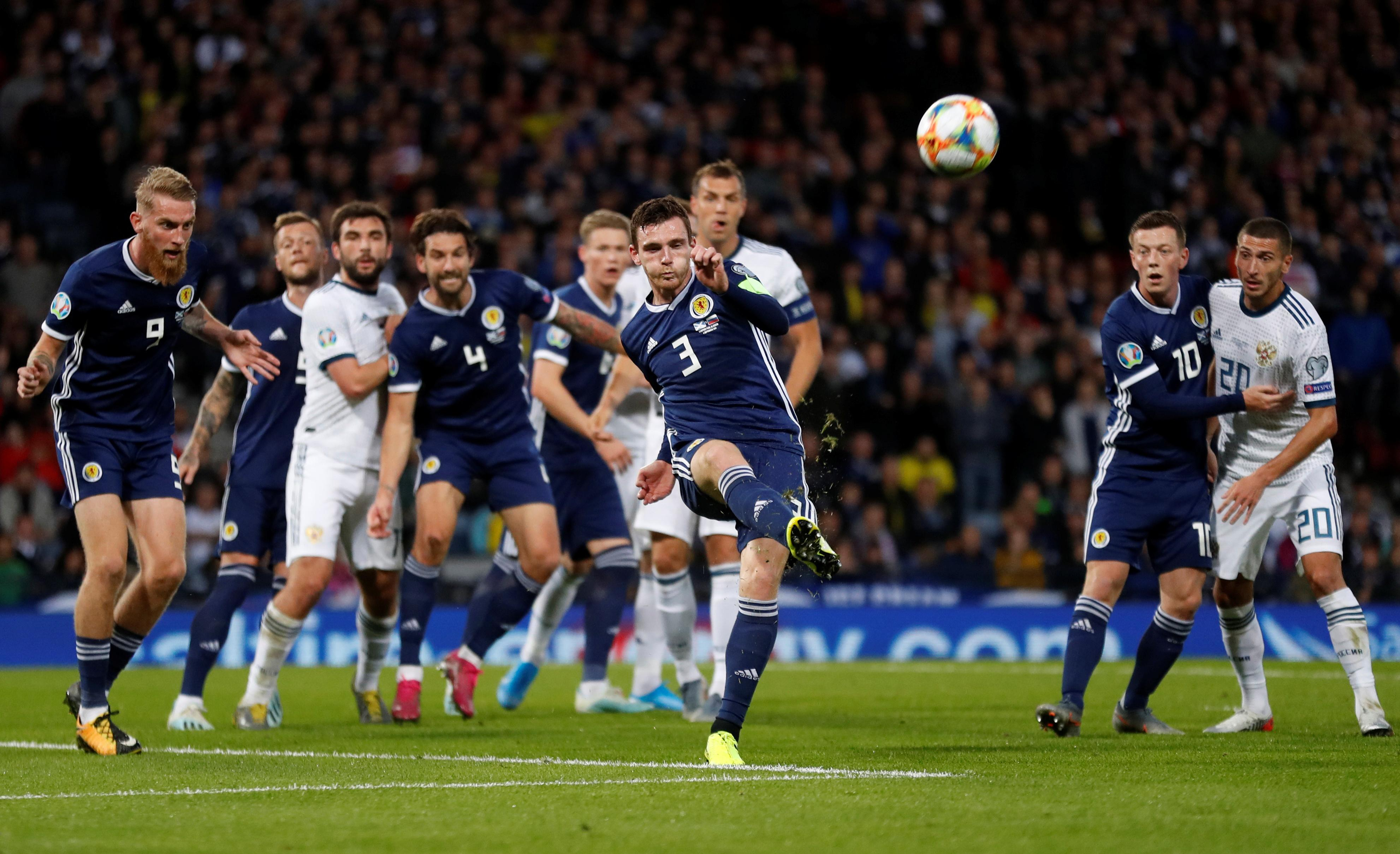 Scotland captain Robertson says defeat by Russia a career low