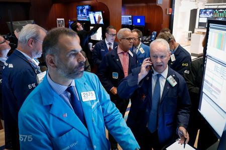 US STOCKS-Stimulus hopes lift Wall Street, financial stocks lead gains
