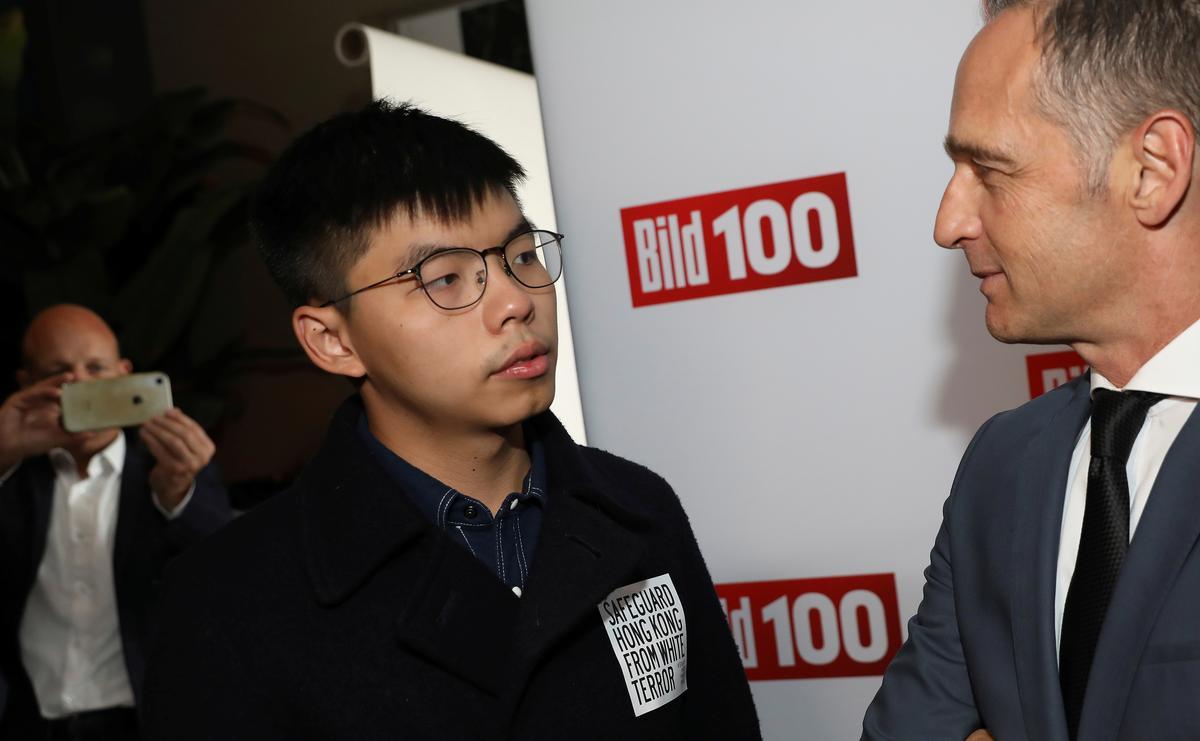 China is kwaad nadat die Duitse minister van Buitelandse Sake die HK-aktivis ontmoet