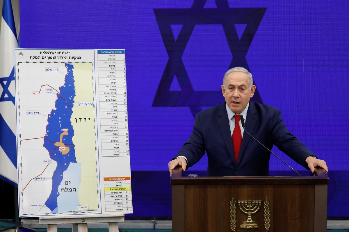 Israel se Netanyahu kondig die plan na die verkiesing aan om die Jordaanvallei van Wesoewer te annekseer