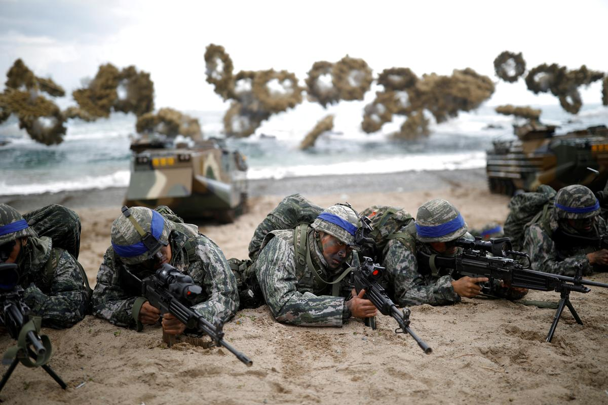 Koop 'n groot stok: Suid-Korea se militêre besteding het Noord-Korea bekommerd gemaak