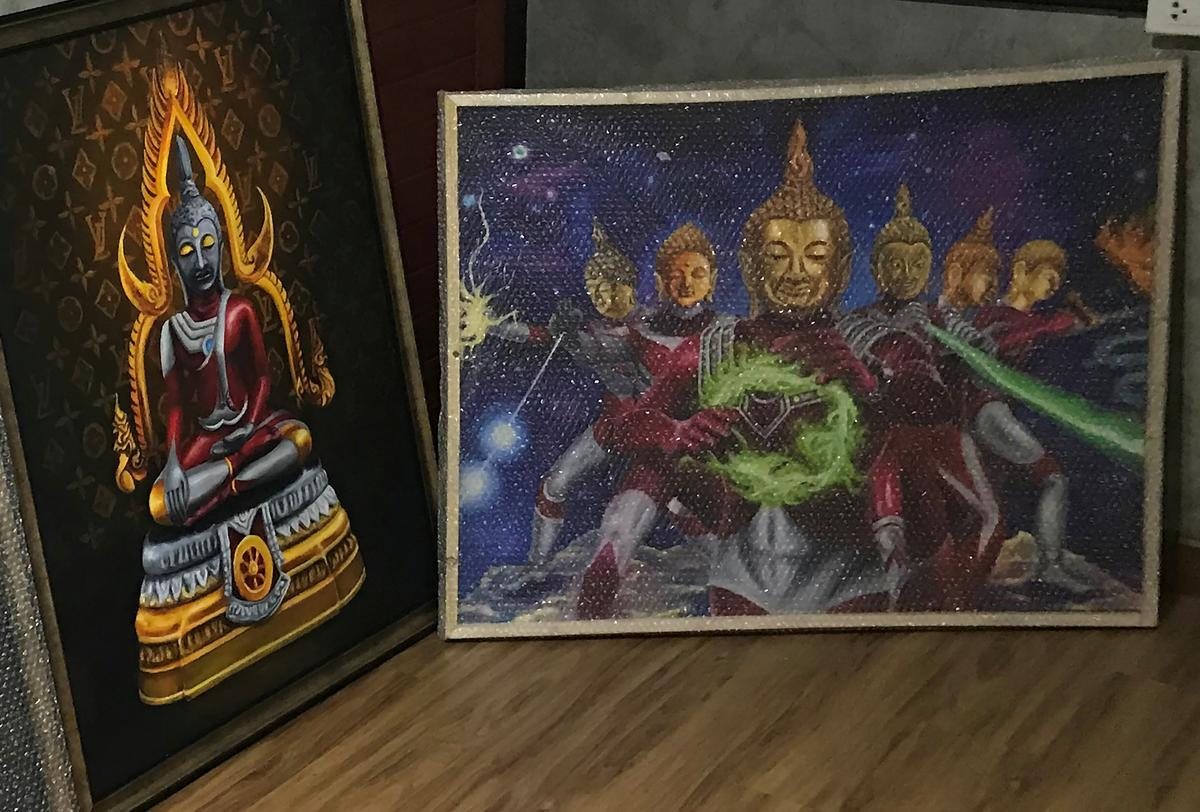 'Ultraman Buddha' -kuns in Thailand vra klagte van die polisie
