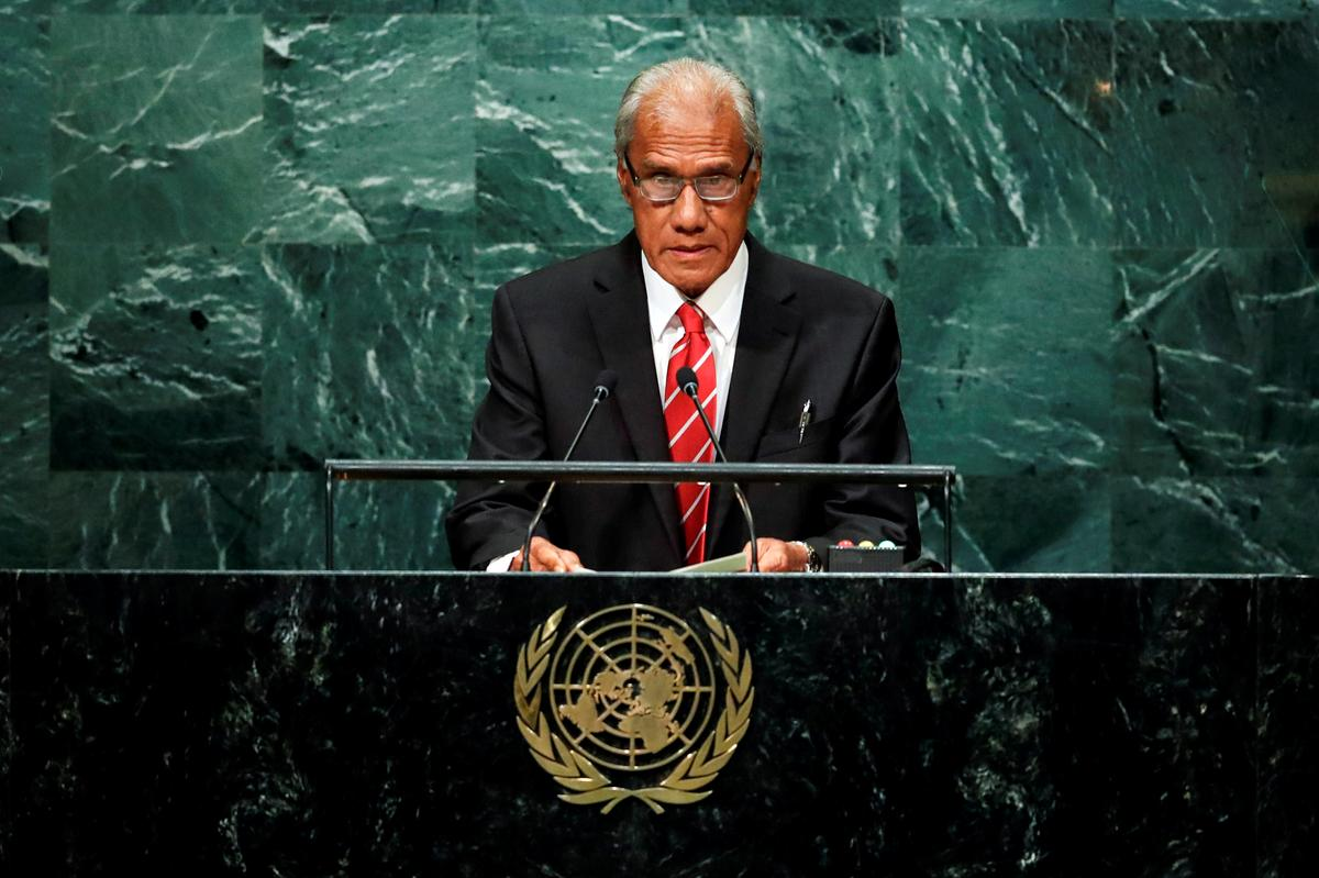 Climate change campaigner Tongan PM dies in New Zealand - Reuters