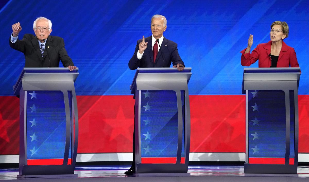 Some Democrats snipe, others unite in third presidential debate