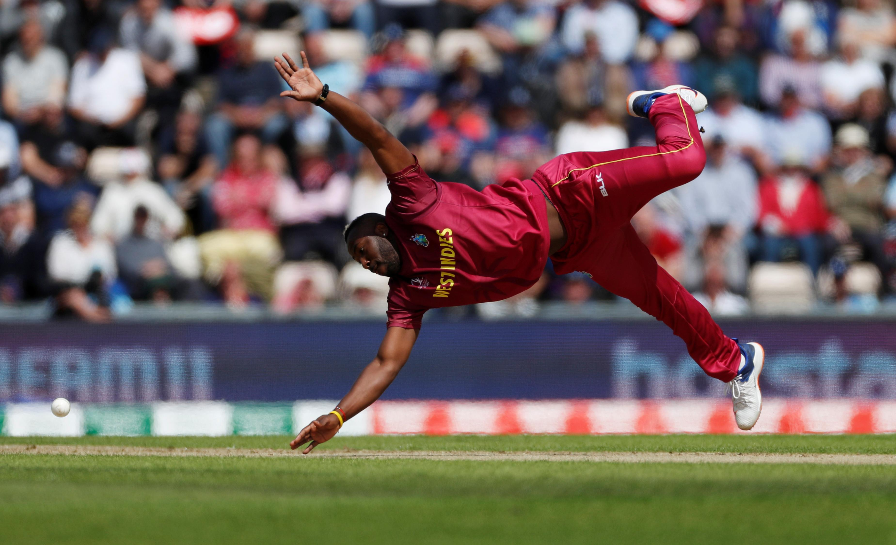 Windies' Russell cleared of serious injury after head blow