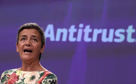 EU may need to regulate tech giants' data use: EU antitrust chief