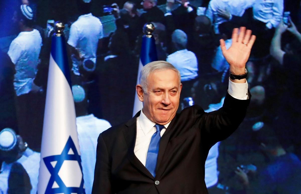 Netanyahu voer geen sege aan in die toespraak ná die verkiesing nie