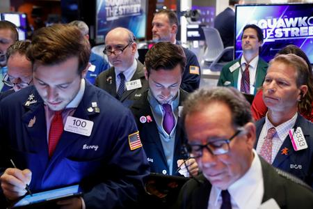 GLOBAL MARKETS-Stocks fall, Treasury yield curve flattens after Fed cuts rates but sends mixed signals