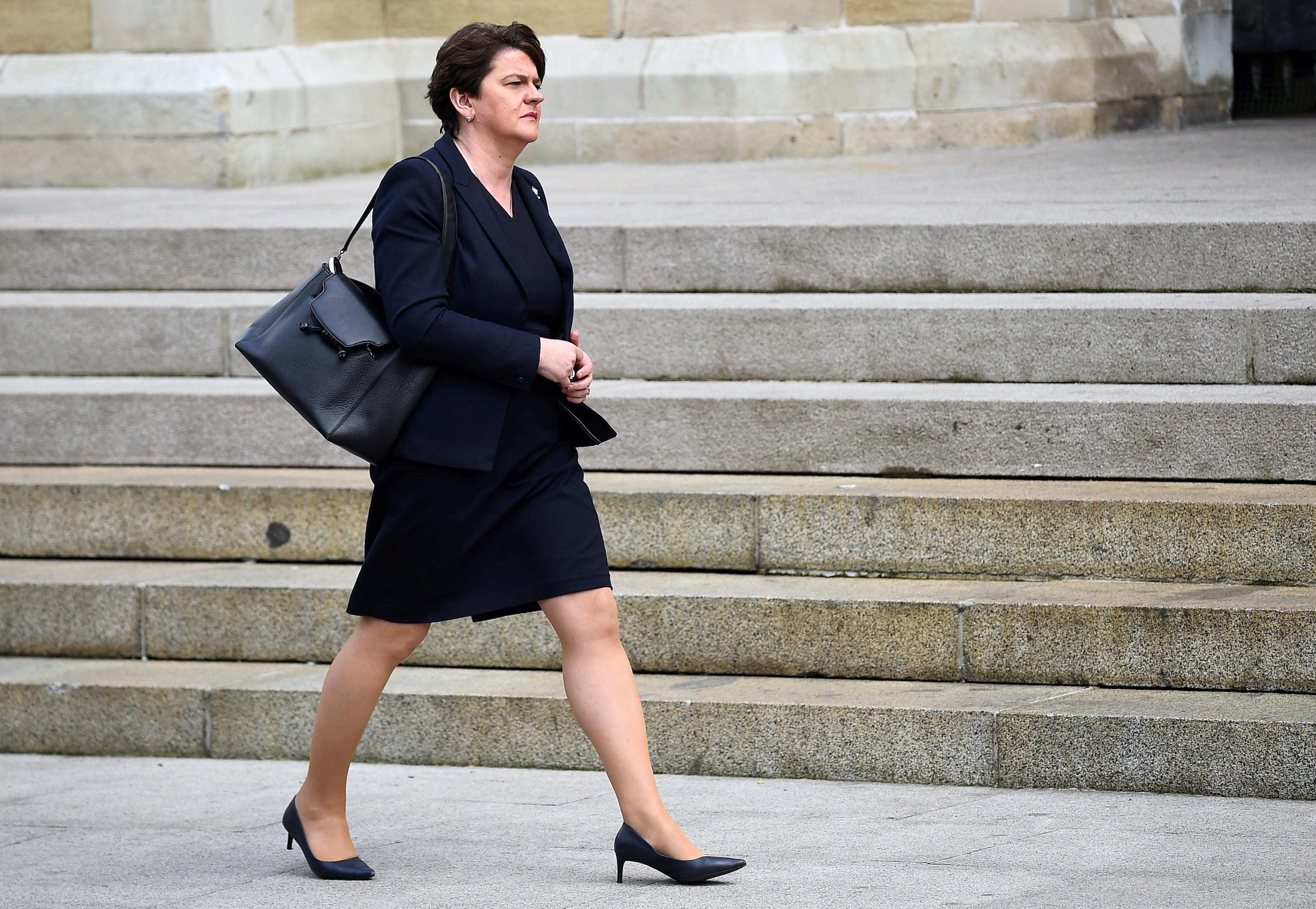 DUP leader meets Irish PM in Dublin to discuss backstop