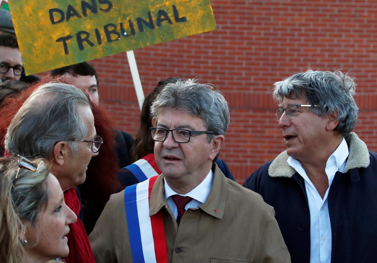 Franse linkse leier gaan tereg staan op aanklagte van intimidasie